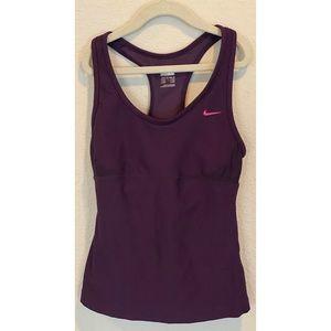 Nike XS Workout Dark Purple tank built in bra
